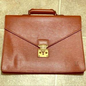 Authentic Louis Vuitton epi brown briefcase